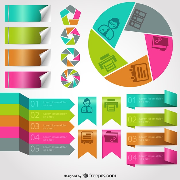 Business infographic templates Free Vector