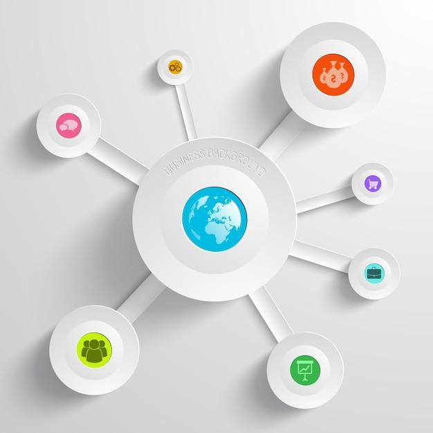 Infografica aziendale con diagramma circolare Vettore gratuito