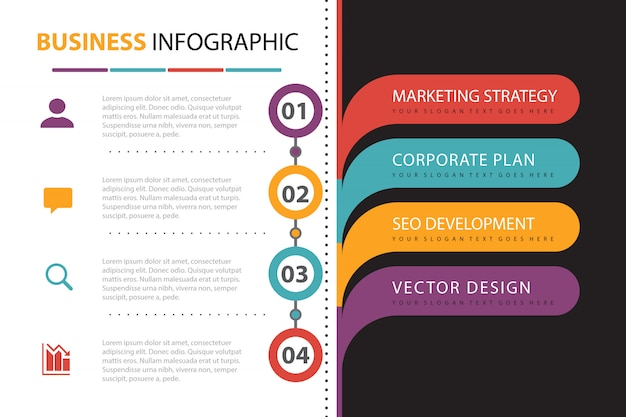 Business infographic with element presentation Free Vector