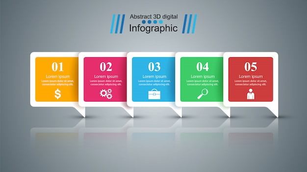 Business infographic Premium Vector