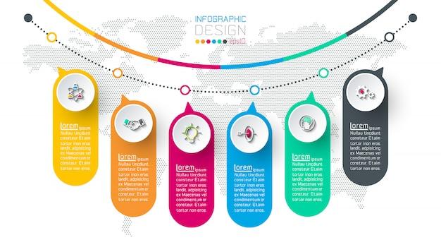 Business infographic Premium Vector