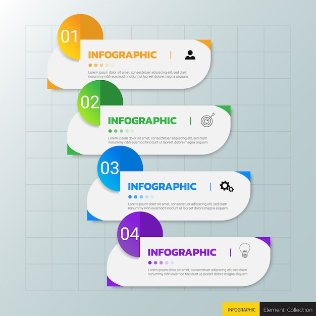 Business infographics design template. Premium Vector
