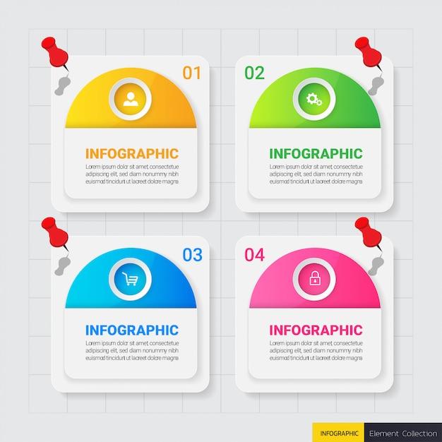 Business infographics design template Premium Vector