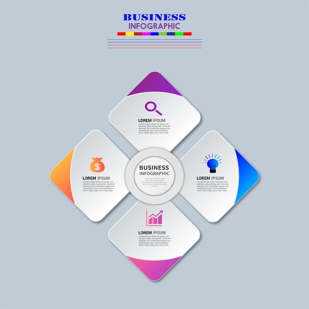 ビジネスinfographics要素ベクトル設計。 Premiumベクター