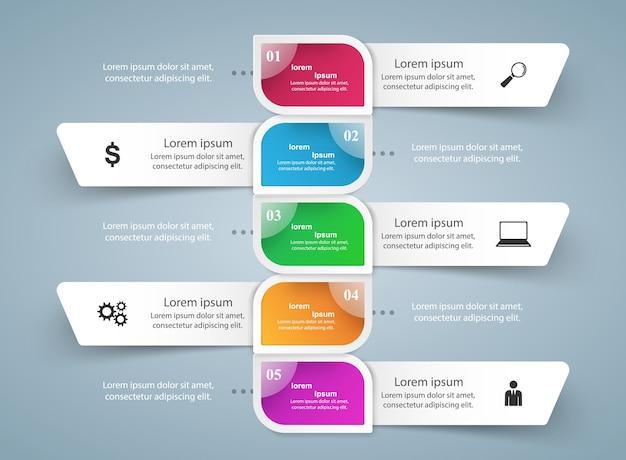 Business Infographics origami style Premium Vector