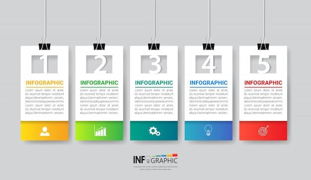 Business infographics template design. Premium Vector