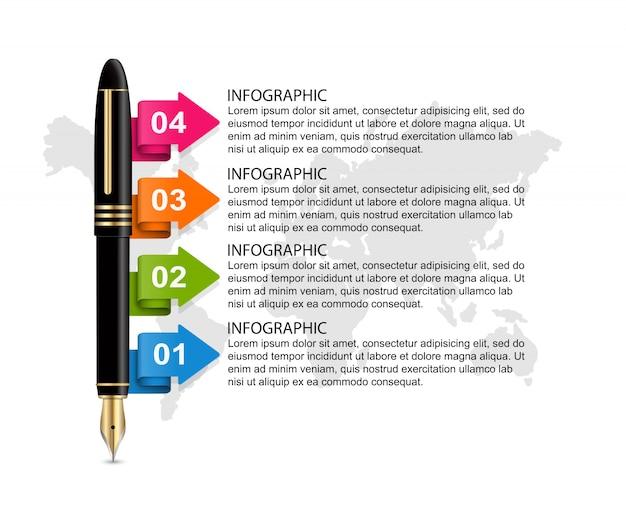 Business infographics template. Premium Vector