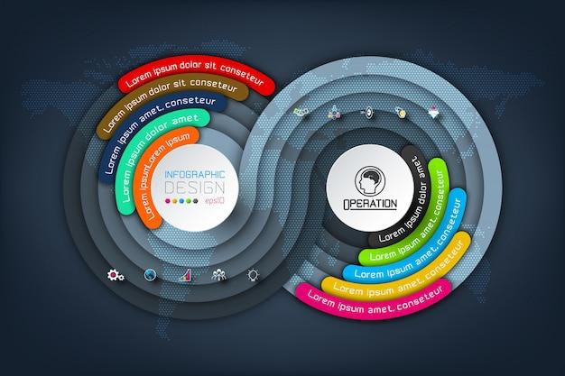 Business infographics Premium Vector