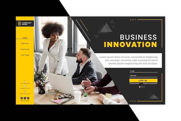 Modello di pagina di destinazione dell'innovazione aziendale Vettore gratuito