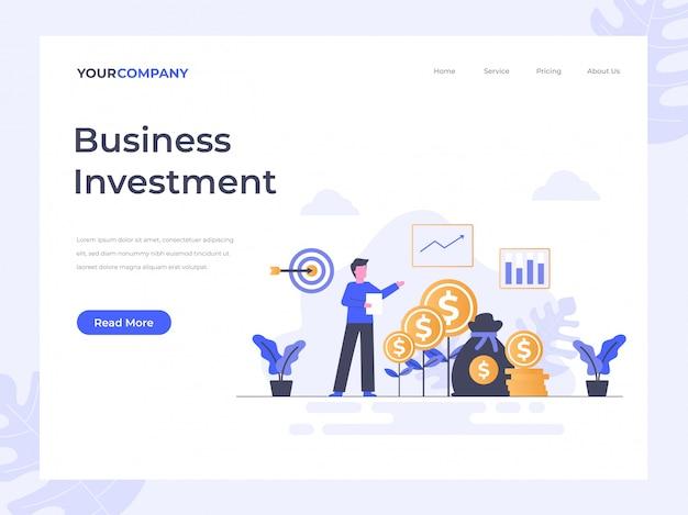 Целевая страница инвестиций в бизнес Premium векторы