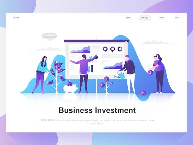 ビジネス投資現代フラットデザインコンセプト。 Premiumベクター