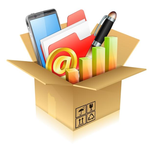 Business items Premium Vector