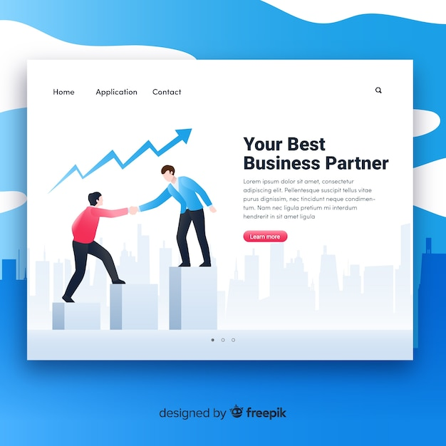 Business landing page template vector free download business landing page template free vector flashek Image collections