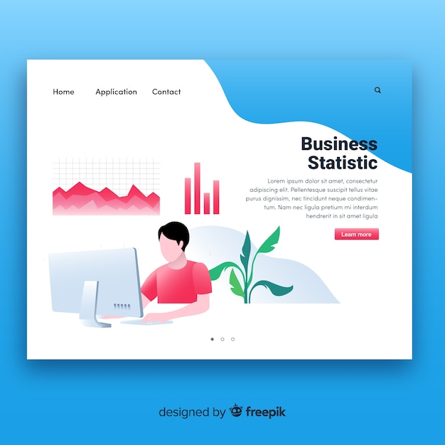Business landing page template vector free download business landing page template free vector fbccfo Gallery