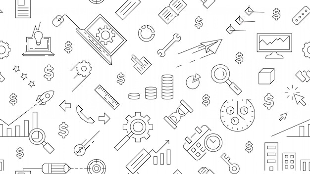 Business landscape pattern and background Premium Vector