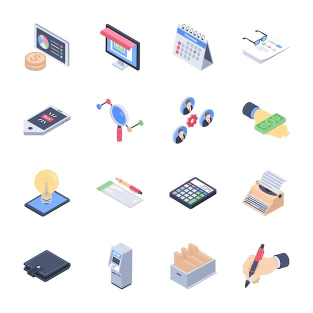 Business launch icons pack Premium векторы