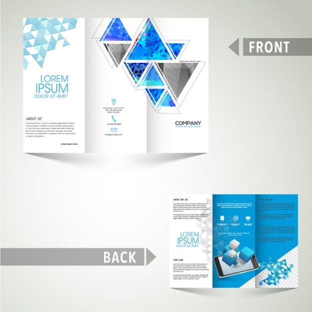 Business leaflet template with blue elements vector premium download business leaflet template with blue elements premium vector cheaphphosting