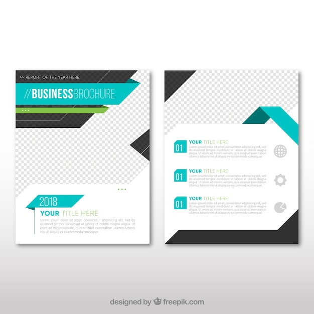 Business leaflet template with blue elements vector free download business leaflet template with blue elements free vector wajeb