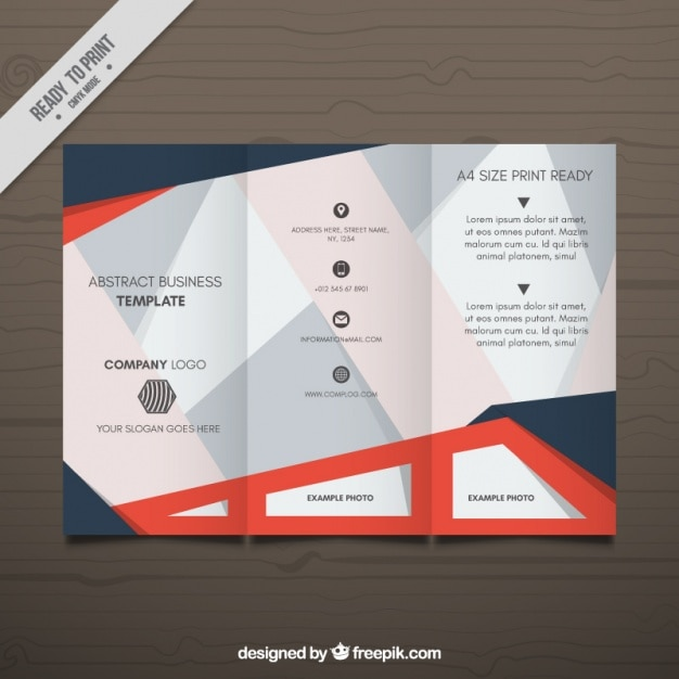 Business leaflet template with decorative geometric forms vector business leaflet template with decorative geometric forms free vector cheaphphosting Image collections