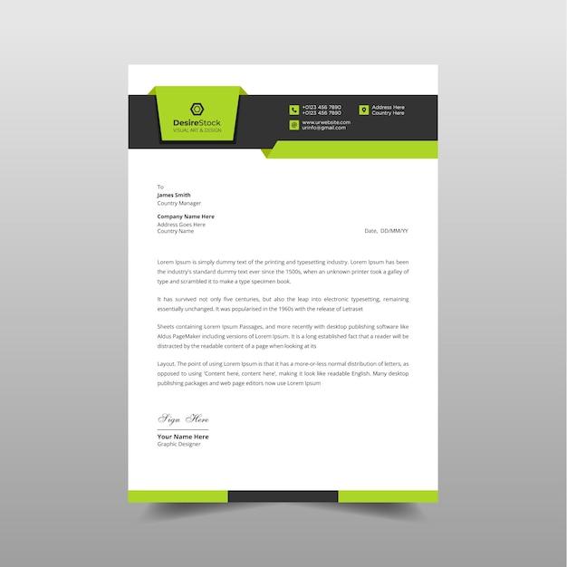 Business letterhead design Premium Vector