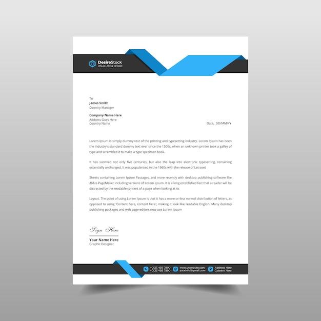Business letterhead template design illustration Premium Vector