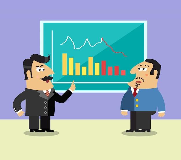 Business life shareholder scene Premium Vector