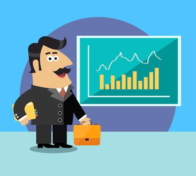 Business life shareholder Free Vector