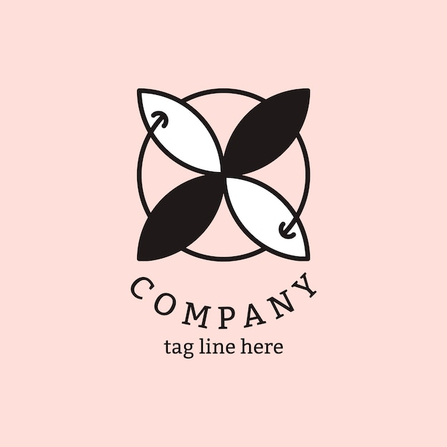 Business logo on pink Free Vector