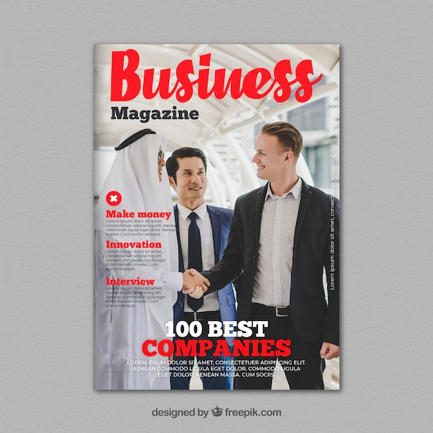 Business magazine cover template with photo vector free download business magazine cover template with photo free vector accmission Choice Image