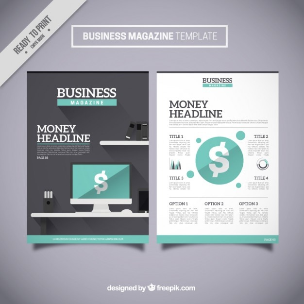 Business magazine template vector free download business magazine template free vector accmission Image collections