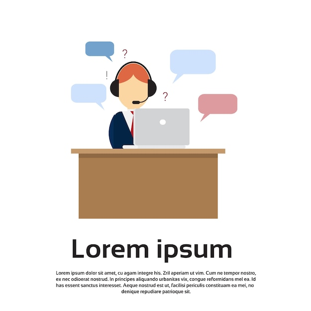 Business man consulting service support Premium Vector