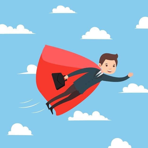premium vector business man flying on the sky success cartoon concept vector https www freepik com profile preagreement getstarted 3089791