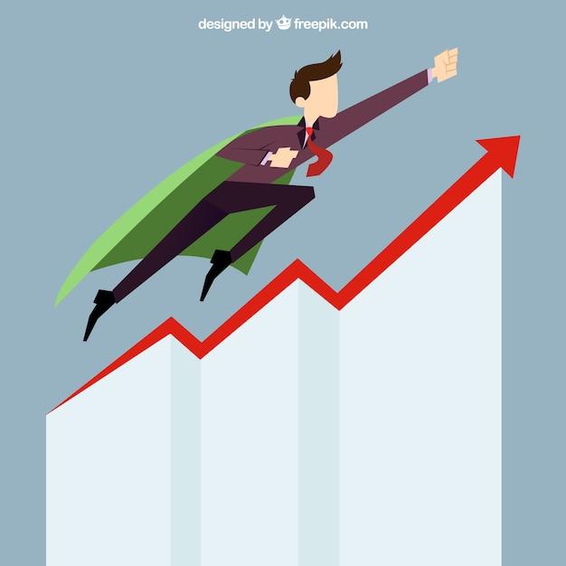 Business man start up success Premium Vector
