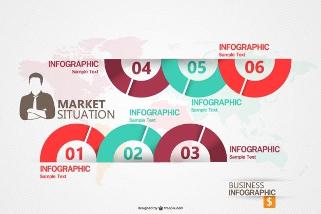 Бизнес маркетинг infograhic шаблон Бесплатные векторы