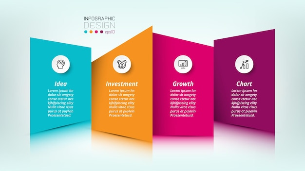 Business or marketing infographic template Premium Vector