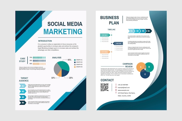 Business marketing plan template Free Vector