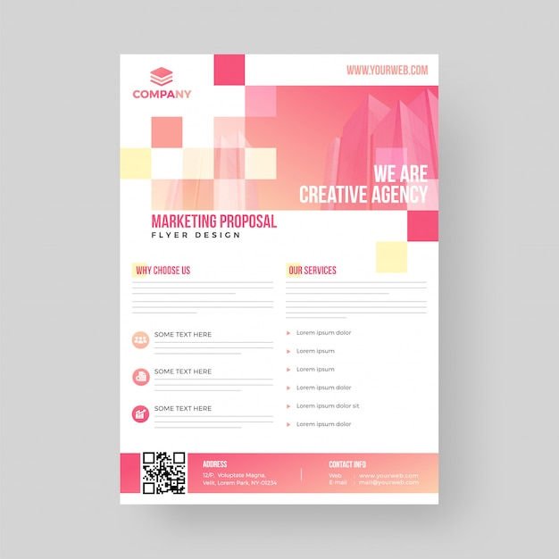 Business marketing proposal flyer or template design. Premium Vector