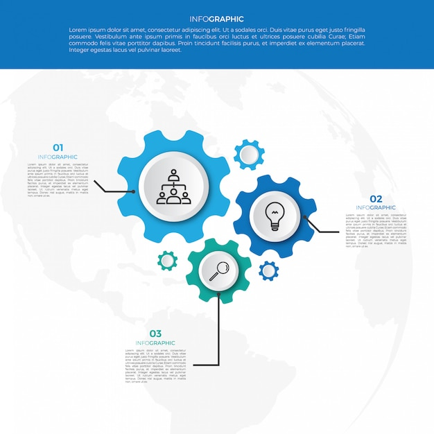 Business mechanism infographic design template Premium Vector