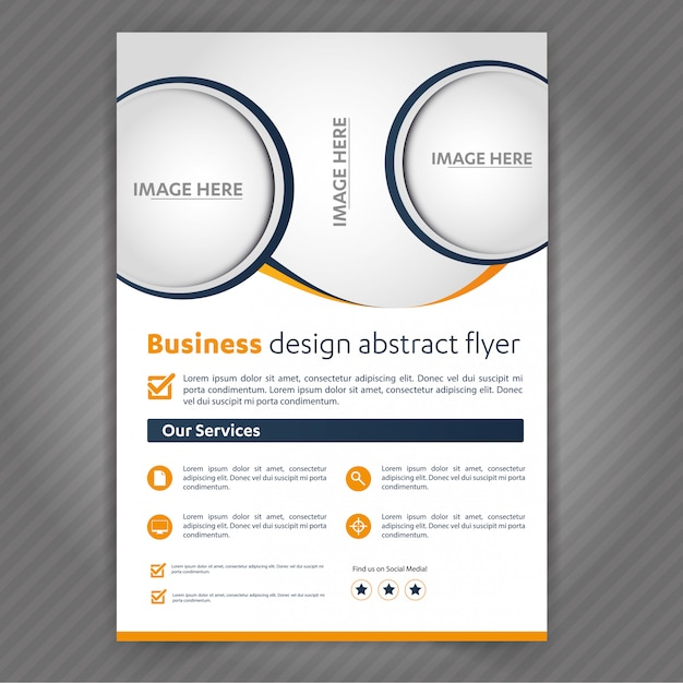 Business medical travel tourism flyer Premium Vector
