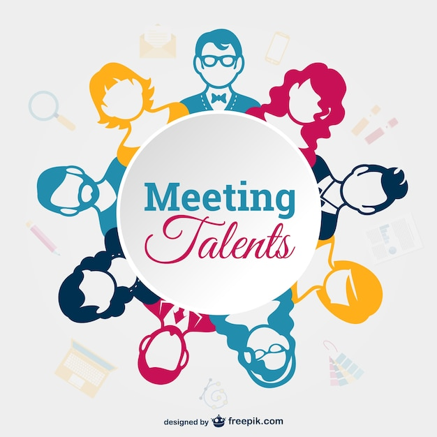 Business meeting avatars Free Vector