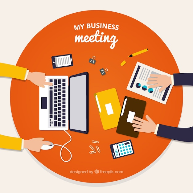 Business meeting background with\ documents