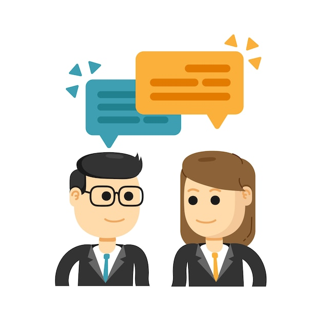 Business meeting and brainstorming, working together Premium Vector