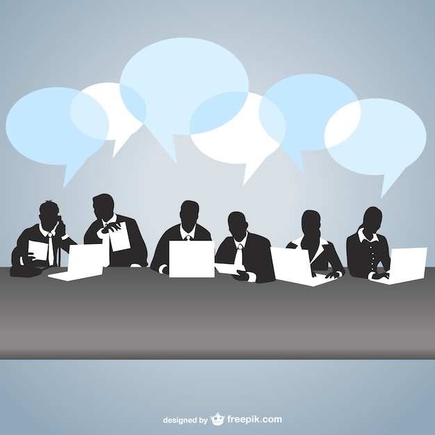 Business meeting chatting Free Vector
