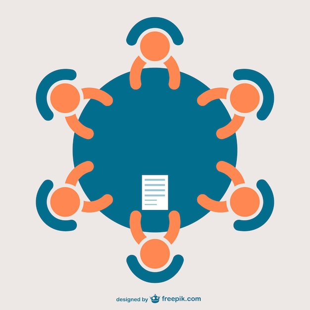 Business meeting icon Free Vector