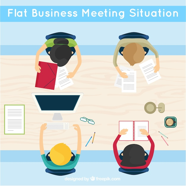 Business meeting in flat design