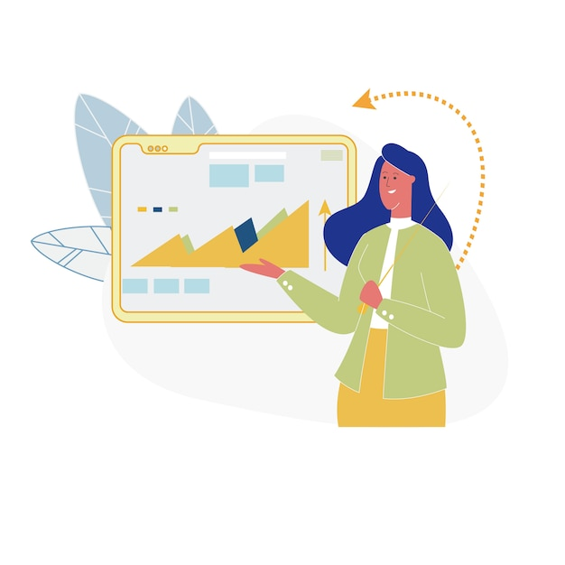 Business meeting in office, training, strategy. Premium Vector