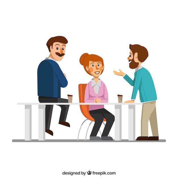 Business meeting scene
