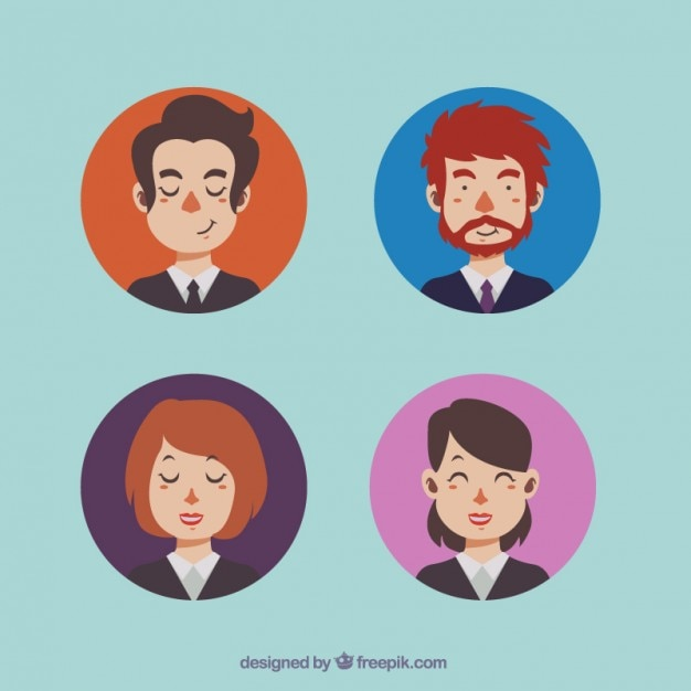 Business men and women avatars