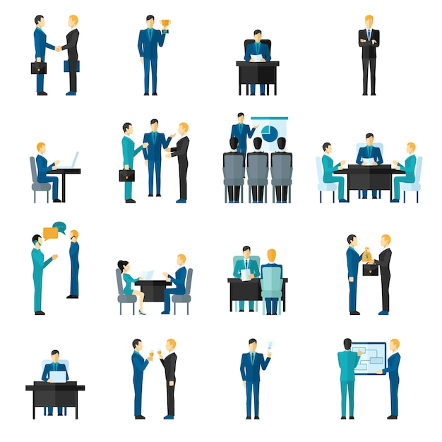 Business men set Free Vector