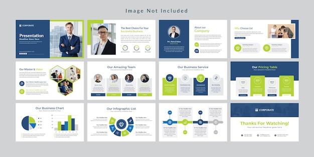 Бизнес минимальный шаблон презентации слайдов. Premium векторы